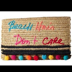 Rebecca Minkoff Straw Clutch Handbag